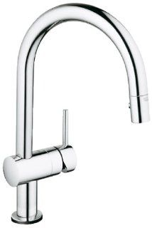 Grohe 31359000 Minta Touch Activated Electronic Single Handle Kitchen Faucet, Chrome   Touch On Kitchen Sink Faucets