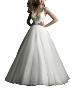 GEORGE BRIDE Sweetheart taffeta Wedding Dress With Embroidered Lace Aappliques at  Women�s Clothing store: