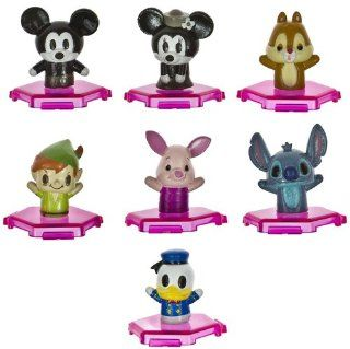 Disney Mickey & Friends Mini Figure Toppers Discount Bundle (7 Mini Figures Mickey, Minnie, Dale, Donald, Peter Pan, Piglet, Stitchl) Toys & Games