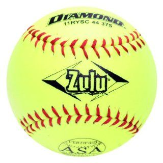 Diamond Sports 11RYSC 44 375 ASA Super Synthetic Optic Softball, Dozen : Slow Pitch Softballs : Sports & Outdoors