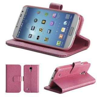 GMYLE(TM) Metallic Bling Bling Pink PU Leather Magnetic Flip Slim Fit Wallet Purse Stand Case Cover for Samsung Galaxy S IV i9500 Cell Phones & Accessories