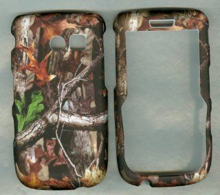 Camo Leaf Tree Adv Rubberized Samsung R375c Straight Talk Phone Cover Case Ru: Cell Phones & Accessories