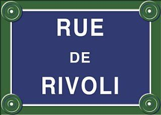 French Paris Street Sign   Rue de Rivoli   Decorative Signs