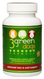 3 Green Dogs Advanced Skin and Coat Support for Large Breed : Pet Supplements And Vitamins : Pet Supplies