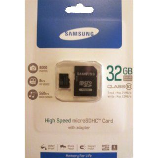 Samsung 32GB High Speed microSDHC Class 10 Memory Card with Adapter. Model number MB MSBGA/US Electronics