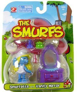 Smurfs   Smurfette with Vanity Mirror: Toys & Games
