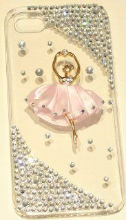 iPhashon Golden Ballerina BALLET DANCER Crystal Case Cover for iPhone 5 5G 5th: Cell Phones & Accessories