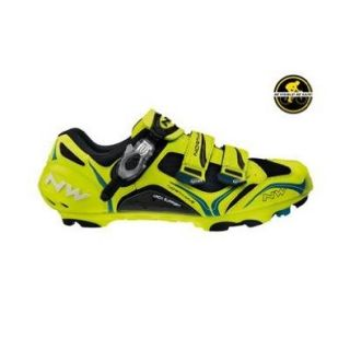 Northwave 2013 Men's Striker Carbon 5 S.B.S. Mountain Bike Cycling Shoes   70N80132001 48 (Yellow Fluo/Black/Blue   39): Shoes