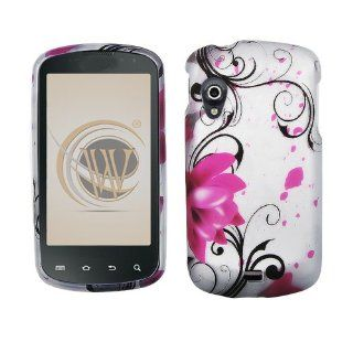 Pink Lotus Flower Design Snap On Case Cover for Samsung Stratosphere (SCH i405): Cell Phones & Accessories