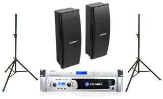 Bose 402 II Loudspeakers Bose Pro Audio Portable Sound System Package Includes Crown XLS1500 Amplifier