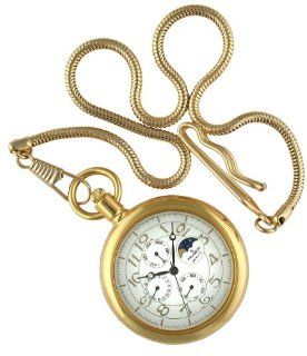 Peugeot Multi function Gold Pocket Watch with Gold Chain: Everything Else