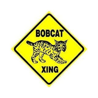 BOBCAT CROSSING wild cat mascot pet NEW sign   Yard Signs