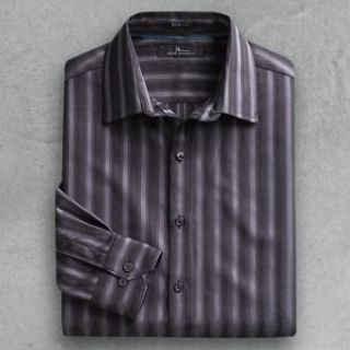 Marc Anthony Slim fit Striped Casual Button front Shirt, Size S at  Men�s Clothing store