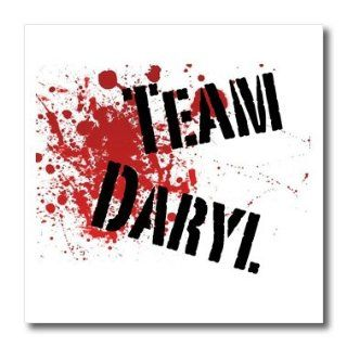 3dRose ht_123992_3 Team Daryl The Walking Dead Zombies Iron on Heat Transfer for White Material, 10 by 10 Inch