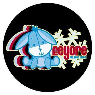 Disney Cuties Eeyore Logo Button B DIS 0126 Childrens Decorative Stickers Clothing