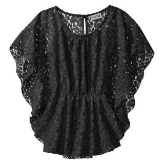 Cherokee Girls 3/4 Sleeve Shirt   Ebony M