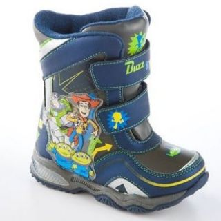 Disney Toddler Boys Toy Story Light up Snow Boots with Buzz Lightyear & Woody (8) Shoes