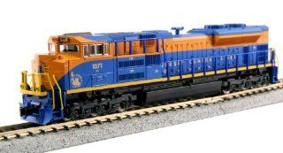 Kato N Scale EMD SD70ACe Locomotive NS Heritage Jersey Central Lines #1071   Factory Installed TCS DCC Decoder KA 176 8509 1: Toys & Games