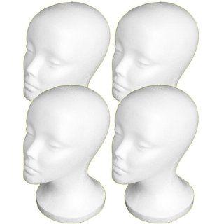 "4PCs A1Pacific 11"" STYROFOAM FOAM MANNEQUIN MANIKIN head wig display hat glasses : Shower Caps : Beauty"