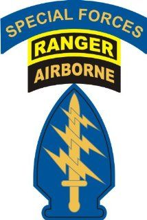 United States Army Special Forces Ranger Airborne Sticker: Automotive