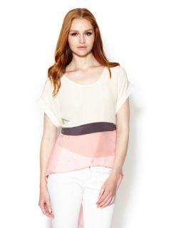 Maggio Silk Colorblock Blouse by Stella & Jamie