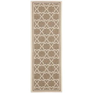 Safavieh Indoor/ Outdoor Courtyard Brown/ Bone Rug (2'4 x 12') Safavieh Runner Rugs