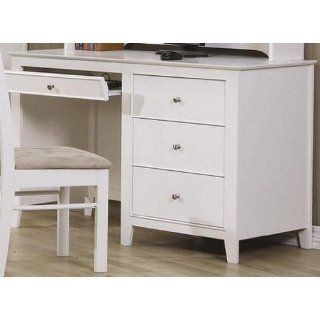 Selena White Computer Desk by Coaster Furniture   Home Office Desks