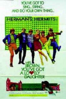 Mrs Brown You'Ve Got A Lovely Daughter Herman'S Hermits Original Movie Poster: Entertainment Collectibles