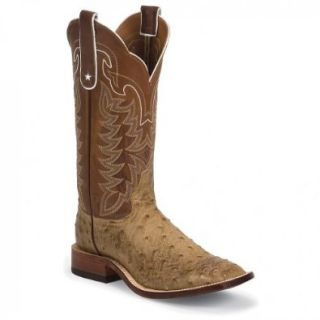 Tony Lama Men's Full Quill Ostrich Boot Square Toe: Shoes