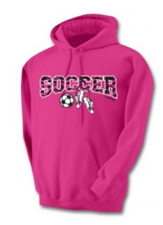 Sports Katz Women's Soccer Zebra Design Hoodie: Clothing