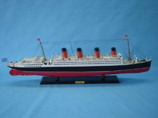 "Aquitania Limited 40"" Model Cruiseship   Already Built Not a Kit   Wooden Ship Model Cruise Ship Replica Scale Model Boat Nautical Home Beach Wall D�cor or Gift   Sold Fully Assembled   Hobby Pre Built Model Boats"