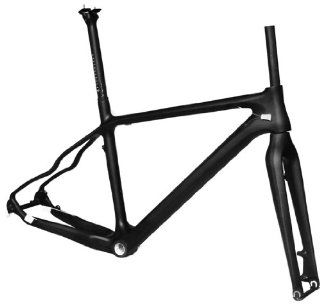 "Full Carbon 3K Matt Matte 26er Mountain Bike MTB 26"" Wheel BSA Frame Seatpost Fork 17"" : Mountain Bicycle Frames : Sports & Outdoors"
