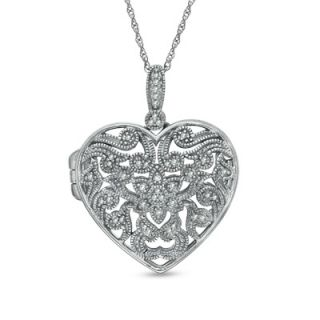 filigree heart locket in sterling silver orig $ 289 00 now $ 229 99