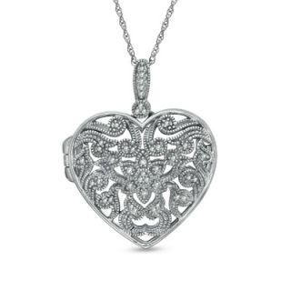 filigree heart locket in sterling silver orig $ 289 00 now $ 229 99