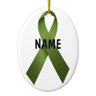 Kidney Cancer Christmas Ribbon Christmas Tree Ornament