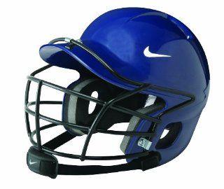 Nike Show Batting Helmet with Cage Chin Strap (Navy, Osfm)  Baseball Batting Helmets  Sports & Outdoors