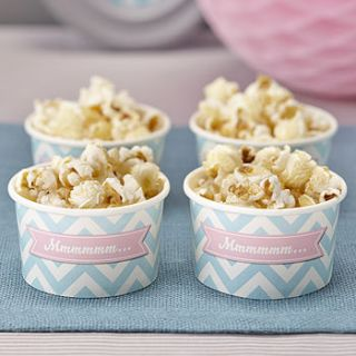 chevron treat / ice cream party tub bowls by ginger ray