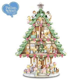 Collectible Precious Moments Sharing Christmas Joy Tabletop Christmas Tree by The Bradford Exchange