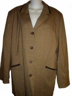 Norton Mc Naughton Women's Kentucky Dress Jacket, Size 16, Brown Plaid Blazers And Sports Jackets