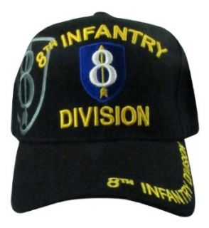 US Warriors Men's U.S. Army 8th Infantry Division Baseball Hat One Size Black at  Men�s Clothing store