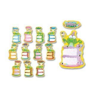 "Carson Dellosa 110112 Bulletin Board, ""Birthday Frog"", 12 Headers/12 Cake Pieces : Themed Classroom Displays And Decoration : Office Products"