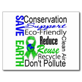 Save Earth Environment Awareness Collage Postcard