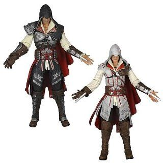 Assassins Creed 2 Ezio 7 inch Action Figure Set Of 2: Toys & Games