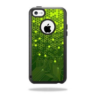 MightySkins Protective Vinyl Skin Decal Cover for OtterBox Commuter iPhone 5C Case Sticker Skins Short Circuit: Cell Phones & Accessories