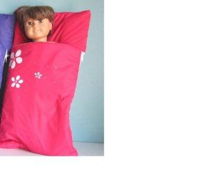 Sleeping Bag in Raspberry. Fits Dolls Such as American Girl� and Bitty Baby�: Toys & Games