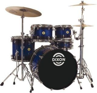 Dixon Outlaw Series OL 522E BLBS 5 Piece Drum Set, Blue burst sparkle (Cymbals & Hardware not included): Musical Instruments
