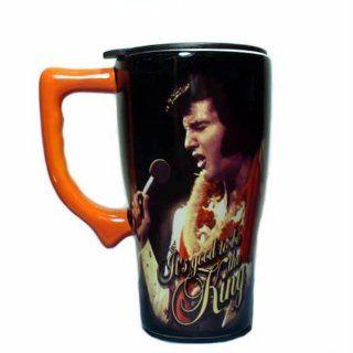 Elvis Presley Travel Mug, Black Kitchen & Dining
