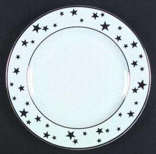 C&R (Indonesia) Stars Dinner Plate, Fine China Dinnerware   Gold Stars On Rim,Go