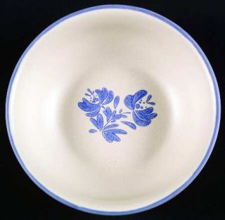 Pfaltzgraff Yorktowne (China) Soup/Cereal Bowl, Fine China Dinnerware   Blue Flo