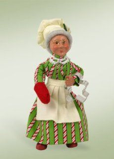 """7"""" Kindles """"Baking Mrs. Claus"""" Baker Bendable Poseable Christmas Figure   Holiday Figurines"""